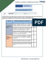 Ficha Autoevaluación Estudiante 3°4°5°