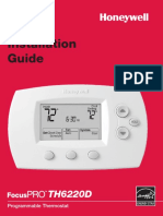 Honeywell-TH6220D-Digital-Thermostat-Installation