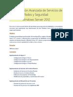 Manual Configuracion Avanzada de Servicios de Redes y Seguridad Windows Server 2012