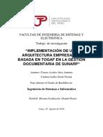 IMPLEMENTACIÓN DE UNA ARQUITECTURA EMPRESARIAL BASADA EN TOGAF EN LA GESTIÓN DOCUMENTARIA DE SUNARP