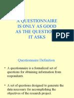 Questionnaire 29 March