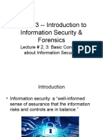 IS and F Lecture 2 and 3 Introduction to Information Security