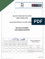 Method Statement for Foundation Works