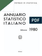 Annuario Statistico Italiano 1980