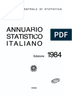 Annuario Statistico Italiano 1984