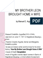 HOW MY BROTHER LEON BROUGHT HOME A WIFE.pptx