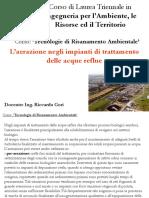 Università degli Studi di Firenze - L'aerazione negli impianti di trattamento delle acque reflue