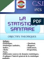 La statistique sanitaire - CSI-