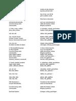 German Irregular Verbs Song