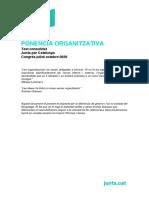 Ponència Organitzativa del congrés fundacional de JxCat