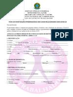 Ficha de Investigação Epidemiológica dos Casos Relacionados com COVID 11.08.20