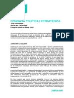 Ponència política del congrés fundacional de JxCat