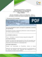 Guía de actividades y rúbrica de evaluación - Tarea 1 - Conceptos y niveles del manejo integrado de plagas MIP
