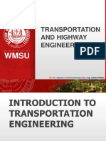 TRANSPORTATION AND HIGHWAY ENGINEERING
