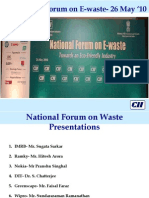 National Forum on E-waste- Presentations