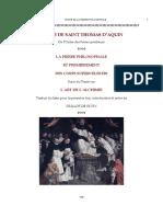Occultisme - Alchimie - Traité - Saint Thomas d'Aquin