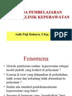 Materi 4 - Metode pembelajaran di   klinik
