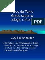 CLASES DE TEXTOS.