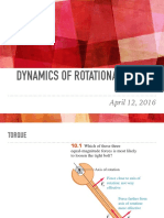 Lecture 11 Dynamics of Rotational Motion