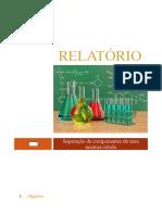 Relatório - Separação de componentes de uma mistura sólida.docx