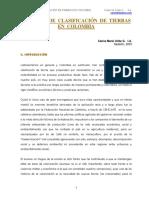 Sistemas de Clasificación de Tierras en Colombia