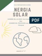 Póster científico del sistema solar en crema