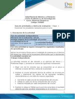 Guia de actividades y Rúbrica de evaluación - Etapa 1 Reconocer los presaberes necesarios para el curso