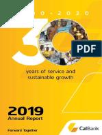 Calbank 2019 Annual Report