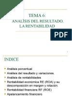 TEMA 6 - Rentabiliad