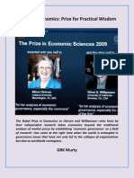 Nobel in Economics- Prize for Practical Wisdom
