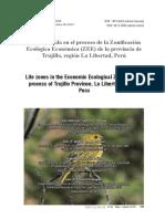 Life zones in the Economic Ecological Zoning (ZEE)-process of trujillo province- la libertad region-Peru