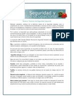 1. NORMAS TECNICAS DE SEGURIDAD INDUSTRIAL