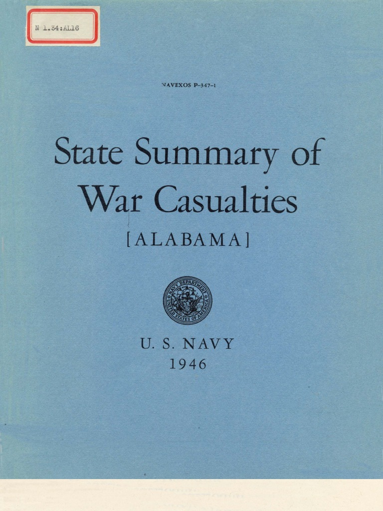 wwii alabama navy casualties