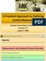 A Practical Approach to Defining Useful Measures