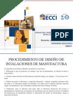 Procedimiento de diseño de instalaciones de manufactura