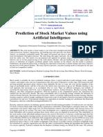 Prediction of Stock Market Values Using