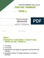 TEMA 1 Funciones y objeto del derecho del trabajo