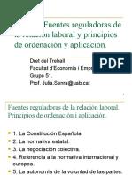 TEMA 2 Fuentes reguladoras de la relación laborl y principios de ordenación y aplicación