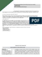 PROCEDIMIENTO EXPLÍCITO PARA DESARROLLAR ESTRATEGIAS LECTORAS