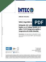 INTE ISO 7243 2016_Estrés térmico