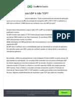 Por que o DNS usa UDP e não TCP_ - GeeksforGeeks