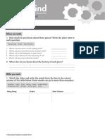 Open Mind Elementary Unit 10 Class Video Worksheet