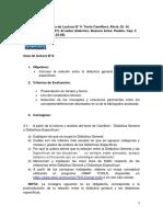 Guía Lectura Saber Texto Camilloni (Eje 1)