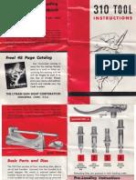 Lyman 310 Tool Instrutions Fp