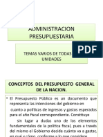 ADM. PRESUPUESTARIA TEMAS VARIOS