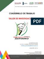 CUADERNILLO TALLER DE INVESTIGACIÓN I