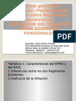 RÉGIMENES PENSIONALES-