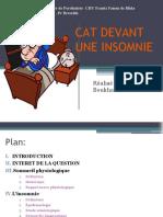 CAT devant une insomnie