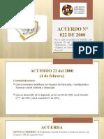ACUERDO N° 022 DE 2000 GESTION DOCUMENTAL