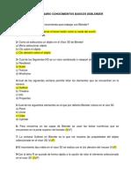 Cuestionario Conocimientos Basicos de Blender